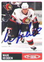 Wade Redden Ottawa Senators 2003 Topps Total Autographed Card.  This item comes with a certificate of authenticity from Autograph-Sports.