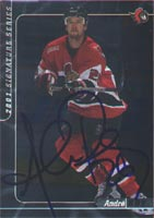 Andre Roy Ottawa Senators 2001 Signature Series Silver Certified Autographed Card - Certified Autograph. This item comes with a certificate of authenticity from Autograph-Sports. PSM-Powers Sports Memorabilia