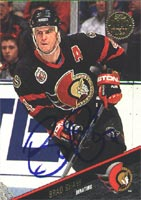Brad Shaw Ottawa Senators 1993 Leaf Autographed Card. This item comes with a certificate of authenticity from Autograph-Sports. PSM-Powers Sports Memorabilia