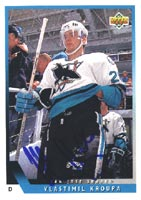 Vlastimil Kroupa San Jose Sharks 1993 Upper Deck Autographed Card - Rookie Card. This item comes with a certificate of authenticity from Autograph-Sports. PSM-Powers Sports Memorabilia