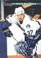 Ville Peltonen San Jose Sharks 1996 Donruss Autographed Card - Rookie Card. This item comes with a certificate of authenticity from Autograph-Sports. PSM-Powers Sports Memorabilia