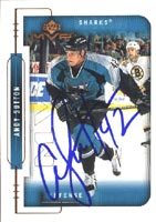 Andy Sutton San Jose Sharks 1999 Upper Deck MVP Autographed Card - Rookie Card. This item comes with a certificate of authenticity from Autograph-Sports. PSM-Powers Sports Memorabilia