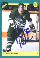 Brent Bilodeau Seattle Thunderbirds - Montreal Canadiens 1991 Classic Draft Picks Autographed Card - Rookie Card. This item comes with a certificate of authenticity from Autograph-Sports. PSM-Powers Sports Memorabilia