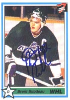 Brent Bilodeau Seattle Thunderbirds - Montreal Canadiens 1991 7th Inning Sketch Autographed Card - Rookie Card. This item comes with a certificate of authenticity from Autograph-Sports. PSM-Powers Sports Memorabilia