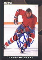 Brent Bilodeau Seattle Thunderbirds - Montreal Canadiens 1991 Star Pics Draft Picks Autographed Card - Rookie Card. This item comes with a certificate of authenticity from Autograph-Sports. PSM-Powers Sports Memorabilia