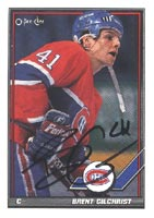 Brent Gilchrist Montreal Canadiens 1991 Opee Chee Autographed Card. This item comes with a certificate of authenticity from Autograph-Sports. PSM-Powers Sports Memorabilia