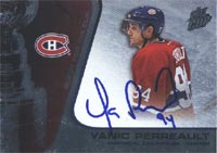 Yanic Perreault Montreal Canadiens 2003 Pacific Quest for the Cup Foil Autographed Card - Nice Card. This item comes with a certificate of authenticity from Autograph-Sports. PSM-Powers Sports Memorabilia