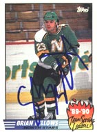 Brian Bellows Minnesota North Stars 1990 Topps Team Scoring Leaders Autographed Card. This item comes with a certificate of authenticity from Autograph-Sports. PSM-Powers Sports Memorabilia