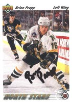 Brian Propp Minnesota North Stars 1991 Upper Deck Autographed Card. This item comes with a certificate of authenticity from Autograph-Sports. PSM-Powers Sports Memorabilia