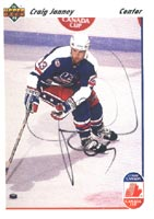 Craig Janney Team USA 1991 Upper Deck Canada Cup Autographed Card - Rookie Card. This item comes with a certificate of authenticity from Autograph-Sports. PSM-Powers Sports Memorabilia