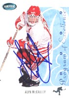 Alyn McCauley Team Canada 1994 Parkhurst Program of Excellence Autographed Card. This item comes with a certificate of authenticity from Autograph-Sports. PSM-Powers Sports Memorabilia
