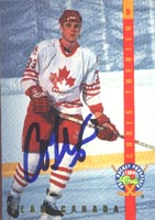Chris Therien Team Canada 1994 Classic Prospects Team Canada Autographed Card. This item comes with a certificate of authenticity from Autograph-Sports. PSM-Powers Sports Memorabilia