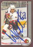 Wade Redden Ottawa Senators 2002 Topps O-Pee-Chee Autographed Card. This item comes with a certificate of authenticity from Autograph-Sports. PSM-Powers Sports Memorabilia