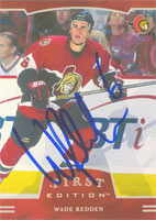 Wade Redden Ottawa Senators 2002 In The Game First Edition Autographed Card. This item comes with a certificate of authenticity from Autograph-Sports. PSM-Powers Sports Memorabilia