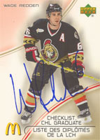 Wade Redden Ottawa Senators 2005 McDonald's Checklist CHL Graduate Autographed Card. This item comes with a certificate of authenticity from Autograph-Sports. PSM-Powers Sports Memorabilia