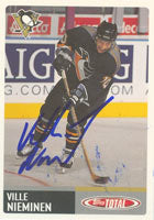 Ville Nieminen Pittsburgh Penguins 2003 Topps Total Autographed Card. This item comes with a certificate of authenticity from Autograph-Sports. PSM-Powers Sports Memorabilia
