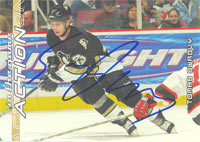 Tomas Surovy Pittsburgh Penguins 2003 In The Game Action Autographed Card. This item comes with a certificate of authenticity from Autograph-Sports. PSM-Powers Sports Memorabilia