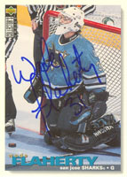 Wade Flaherty San Jose Sharks 1995 Upper Deck Collector's Choice Autographed Card. This item comes with a certificate of authenticity from Autograph-Sports. PSM-Powers Sports Memorabilia