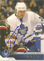 Travis Green Toronto Maple Leafs 2003 Pacific Autographed Card. This item comes with a certificate of authenticity from Autograph-Sports. PSM-Powers Sports Memorabilia