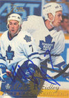 Mike Ridley Toronto Maple Leafs 1994 Fleer Flair Autographed Card. This item comes with a certificate of authenticity from Autograph-Sports. PSM-Powers Sports Memorabilia