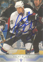 Trent Klatt Vancouver Canucks 2002 Upper Deck Autographed Card. This item comes with a certificate of authenticity from Autograph-Sports. PSM-Powers Sports Memorabilia