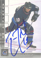 Trevor Letowski Vancouver Canucks 2002 In The Game Be A Player Autographed Card. This item comes with a certificate of authenticity from Autograph-Sports. PSM-Powers Sports Memorabilia