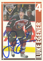 Luke Egener Vancouver Giants - WHL 2005 BC Hyrdo Power Smart Team Set Autographed Card. This item comes with a certificate of authenticity from Autograph-Sports. PSM-Powers Sports Memorabilia