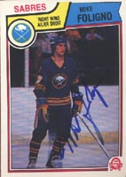 Mike Foligno Buffalo Sabres 1983 Opee Chee Autographed Card. This item comes with a certificate of authenticity from Autograph-Sports. PSM-Powers Sports Memorabilia
