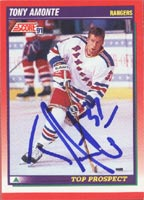 Tony Amonte New York Rangers 1991 Score Prospect Autographed Card - Rookie Card. This item comes with a certificate of authenticity from Autograph-Sports. PSM-Powers Sports Memorabilia