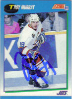Troy Murray Winnipeg Jets 1990 Score Autographed Card. This item comes with a certificate of authenticity from Autograph-Sports. PSM-Powers Sports Memorabilia