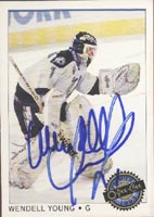 Wendell Young Tampa Bay Lightning 1993 Opee Chee Premier Autographed Card. This item comes with a certificate of authenticity from Autograph-Sports. PSM-Powers Sports Memorabilia