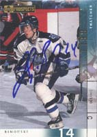 Thatcher Bell Rimouski Oceanic - Vancouver Canucks 2001 Upper Deck Prospects Autographed Card - Rookie Card. This item comes with a certificate of authenticity from Autograph-Sports. PSM-Powers Sports Memorabilia