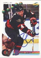 Brad Shaw Ottawa Senators 1995 Score Autographed Card. This item comes with a certificate of authenticity from Autograph-Sports. PSM-Powers Sports Memorabilia