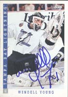 Wendell Young Tampa Bay Lightning 1993 Score Autographed Card. This item comes with a certificate of authenticity from Autograph-Sports. PSM-Powers Sports Memorabilia