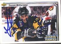 Shawn McEachern Pittsburgh Penguins 1993 Upper Deck Star Rookies Autographed Card - Rookie Card. This item comes with a certificate of authenticity from Autograph-Sports. PSM-Powers Sports Memorabilia