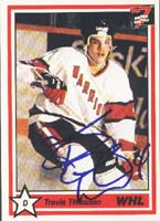 Travis Thiessen Moose Jaw Warriors - Pittsburgh Penguins 1991 7th Inning Sketch Autographed Card - Rookie Card. This item comes with a certificate of authenticity from Autograph-Sports. PSM-Powers Sports Memorabilia