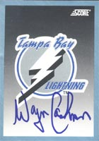 Wayne Cashman Tampa Bay Lightning 1992 Score Team Card Autographed Card. This item comes with a certificate of authenticity from Autograph-Sports. PSM-Powers Sports Memorabilia