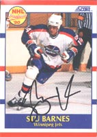 Stu Barnes Winnipeg Jets 1990 Score Prospect Autographed Card - Rookie Card. This item comes with a certificate of authenticity from Autograph-Sports. PSM-Powers Sports Memorabilia