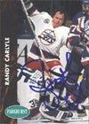 Randy Carlyle Winnipeg Jets 1992 Parkhurst Autographed Card. This item comes with a certificate of authenticity from Autograph-Sports. PSM-Powers Sports Memorabilia