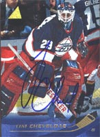 Tim Cheveldae Winnipeg Jets 1996 Pinnacle Foil Autographed Card. This item comes with a certificate of authenticity from Autograph-Sports. PSM-Powers Sports Memorabilia