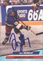 Troy Murray Winnipeg Jets 1993 Fleer Ultra Autographed Card. This item comes with a certificate of authenticity from Autograph-Sports. PSM-Powers Sports Memorabilia