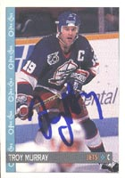 Troy Murray Winnipeg Jets 1992 Opee Chee Autographed Card. This item comes with a certificate of authenticity from Autograph-Sports. PSM-Powers Sports Memorabilia