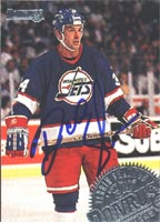 Darrin Shannon Winnipeg Jets 1994 Donruss Autographed Card. This item comes with a certificate of authenticity from Autograph-Sports. PSM-Powers Sports Memorabilia