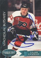 Viacheslav Butsayev Philadelphia Flyers 1993 Parkhurst Calder Candidate Autographed Card - Rookie Card. This item comes with a certificate of authenticity from Autograph-Sports. PSM-Powers Sports Memorabilia