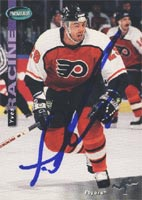 Yves Racine Philadelphia Flyers 1994 Parkhurst Autographed Card. This item comes with a certificate of authenticity from Autograph-Sports. PSM-Powers Sports Memorabilia
