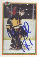 Wendell Young Pittsburgh Penguins 1990 Bowman Autographed Card. This item comes with a certificate of authenticity from Autograph-Sports. PSM-Powers Sports Memorabilia