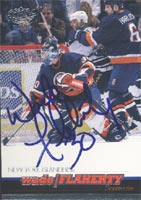 Wade Flaherty New York Islanders 2000 Pacific Autographed Card. This item comes with a certificate of authenticity from Autograph-Sports. PSM-Powers Sports Memorabilia