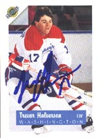Trevor Halversen Washington Capitals 1991 Ultimate Autographed Card - Rookie Card. This item comes with a certificate of authenticity from Autograph-Sports. PSM-Powers Sports Memorabilia