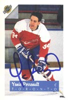Yanic Perreault Toronto Maple Leafs 1992 Ultimate Autographed Card. This item comes with a certificate of authenticity from Autograph-Sports. PSM-Powers Sports Memorabilia