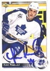 Yanic Perreault Toronto Maple Leafs 1992 Upper Deck Autographed Card. This item comes with a certificate of authenticity from Autograph-Sports. PSM-Powers Sports Memorabilia